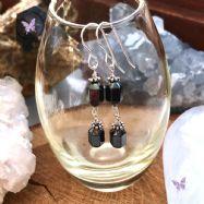Hematite Faceted Drop Earrings